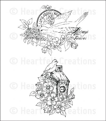 HCPC 3648 ~ HOME SWEET HOME  PreCut Set ~ Birds & Blooms Collection ~  Heartfelt Creations